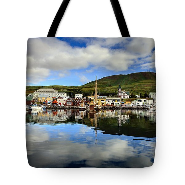 Husavik Harbor Tote Bag