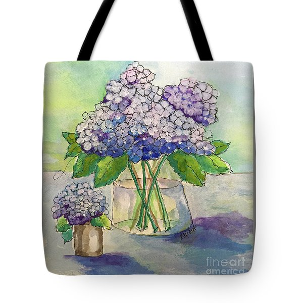 Tote Bag featuring the painting Hydrangea  by Rosemary Aubut