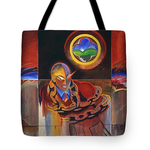 I Saw The Figure Five In Gold Tote Bag by Charles Stuart
