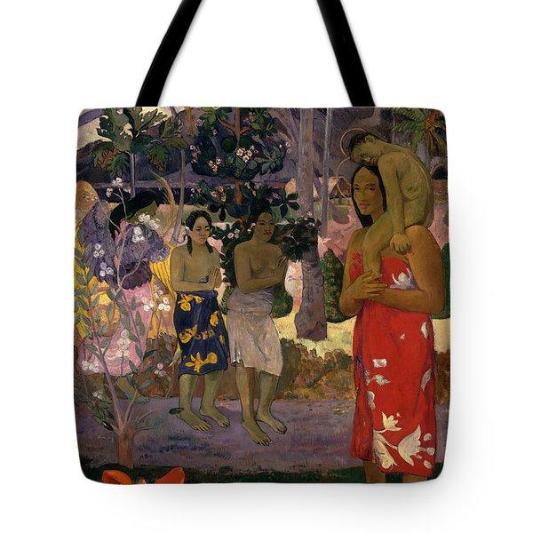 Ia Orana Maria Hail Mary Tote Bag
