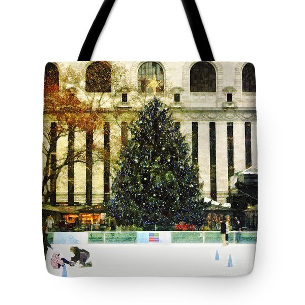 Ice Skating During The Holiday Season Tote Bag by Nishanth Gopinathan