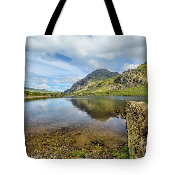 Tote Bag featuring the photograph Idwal Lake Snowdonia by Adrian Evans