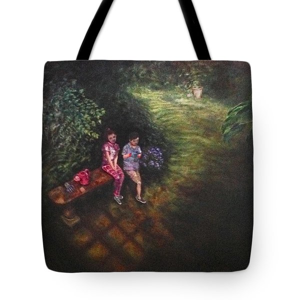 Tote Bag featuring the painting If Cinderella Had A Garden by J Reynolds Dail