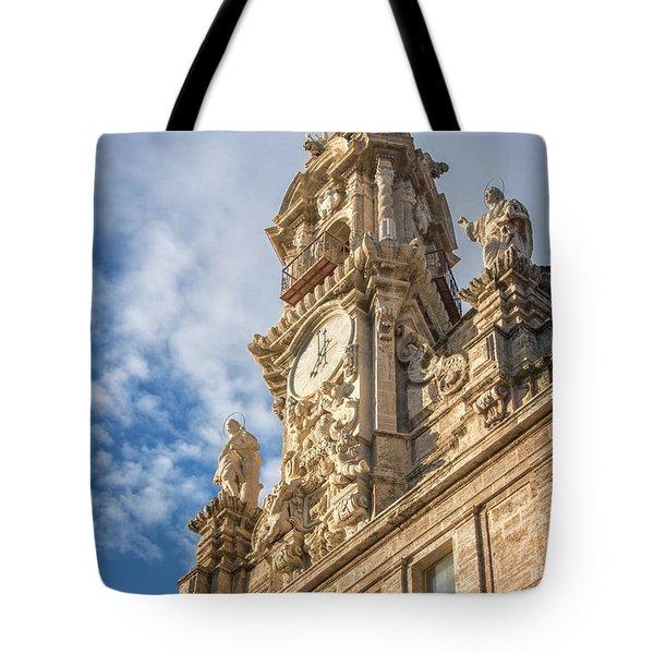 Tote Bag featuring the photograph Iglesia De Los Santos Juanes Valencia Spain by Joan Carroll