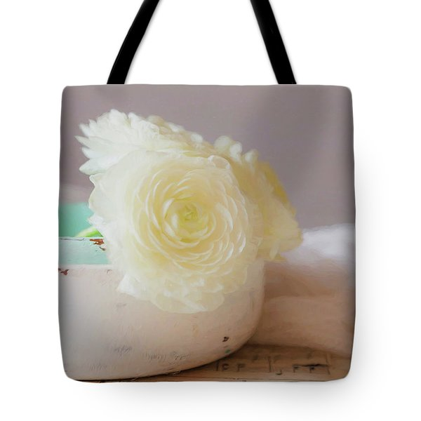Tote Bag featuring the photograph In A White Bowl by Kim Hojnacki