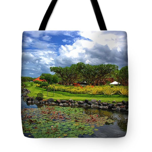 In Bali Tote Bag by Charuhas Images