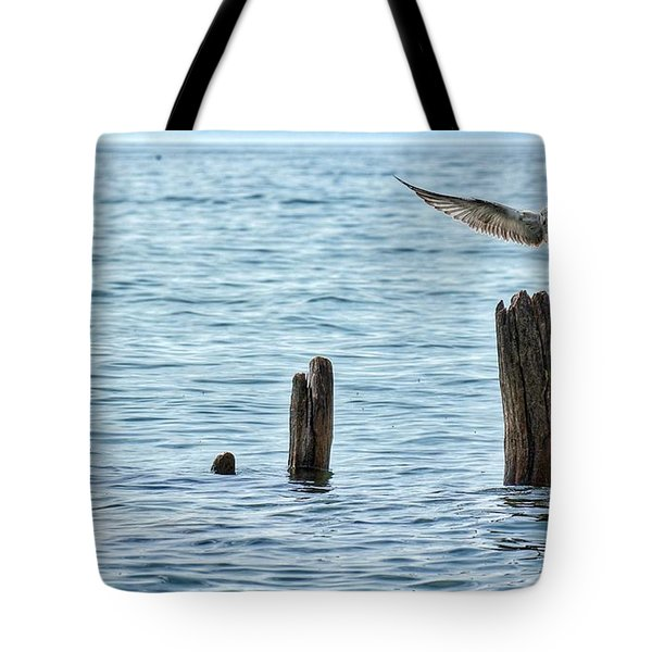 Tote Bag featuring the photograph In Flight by Nikki McInnes