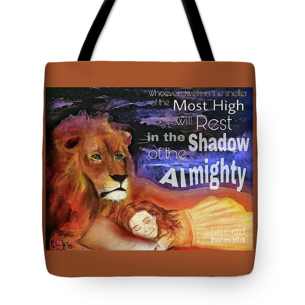 Tote Bag featuring the mixed media In His Rest by Jennifer Page