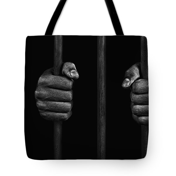 Tote Bag featuring the photograph In Prison by Chevy Fleet