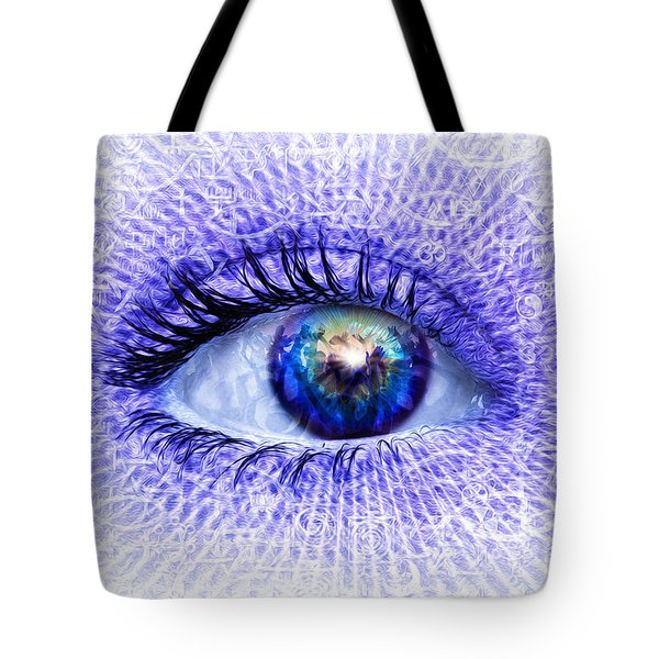 In The Eye Of The Beholder Tote Bag by Robby Donaghey