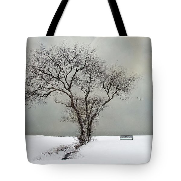 Tote Bag featuring the photograph  The Midst Of Winter by Robin-Lee Vieira