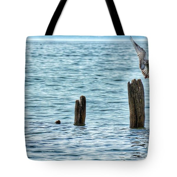 Tote Bag featuring the photograph Incoming by Nikki McInnes
