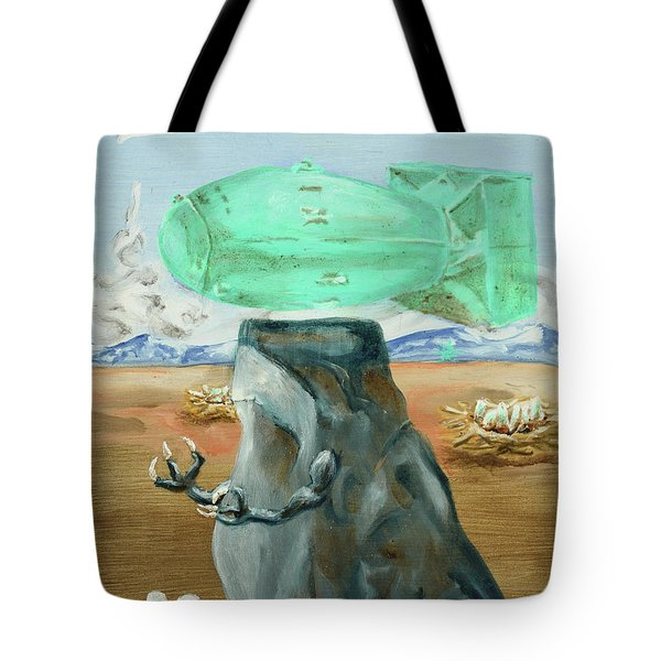 Tote Bag featuring the painting Incubator Of Anxiety by Ryan Demaree
