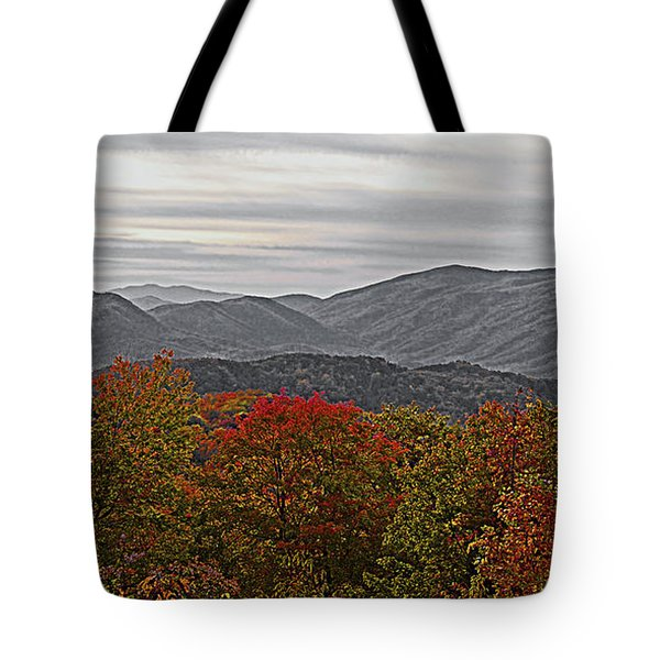 Infinite Smoky Mountains Tote Bag by DigiArt Diaries by Vicky B Fuller