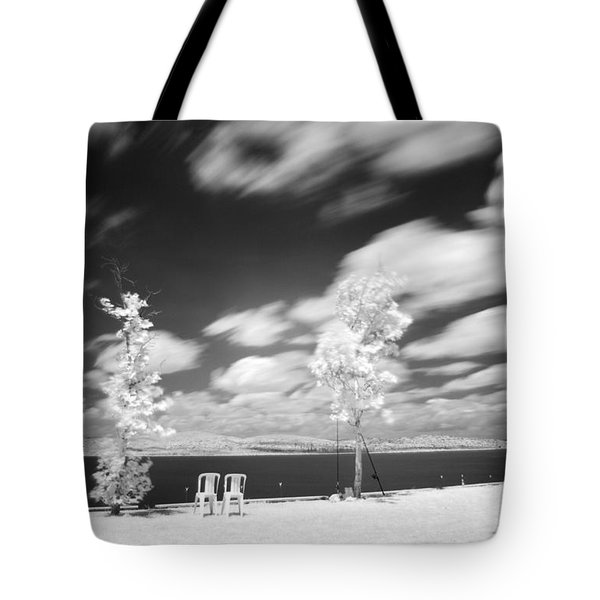 Infrared Landscape Tote Bag by Odon Czintos
