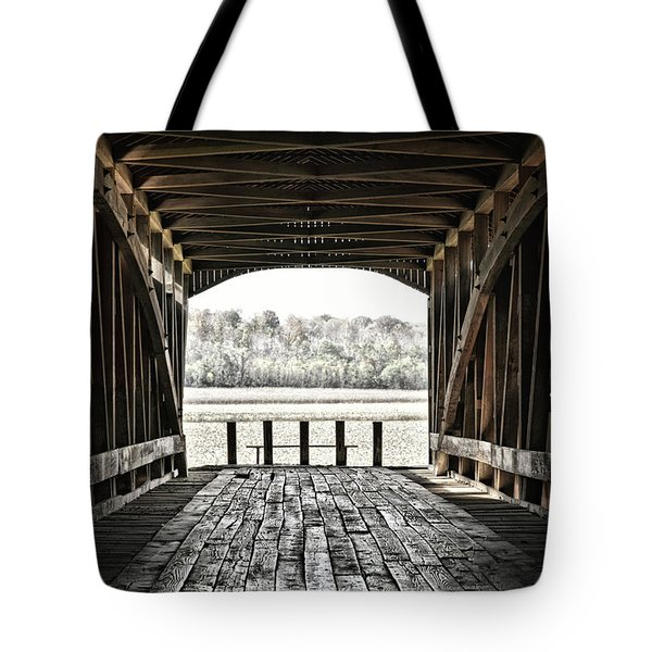 Inside The Covered Bridge Tote Bag