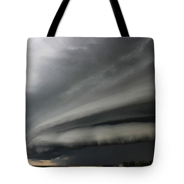 Intense Shelf Cloud Tote Bag