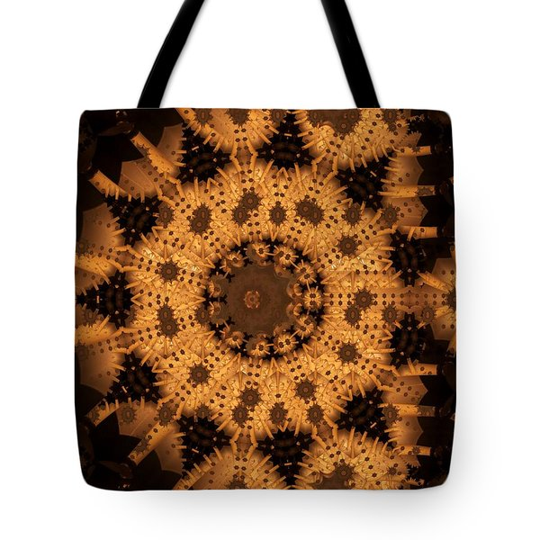 Tote Bag featuring the digital art Interaction by Ron Bissett