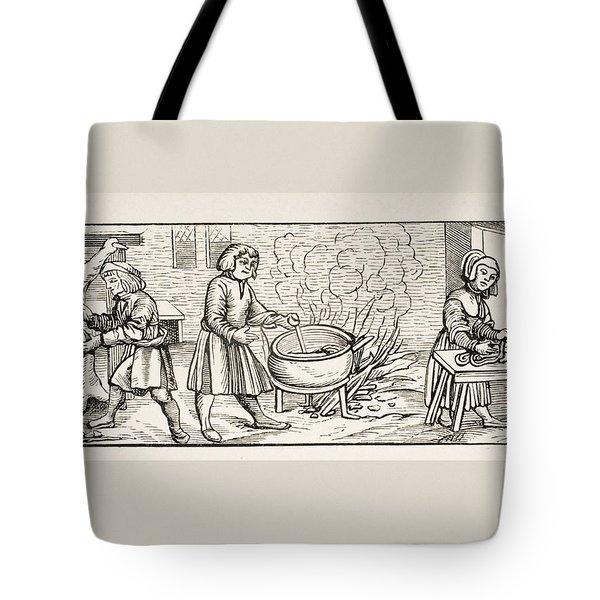 Interior Of A 16th Century Kitchen Tote Bag