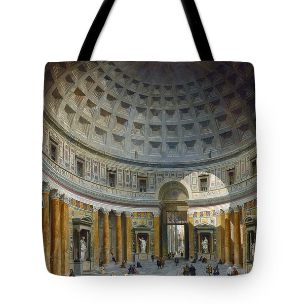 Interior Of The Pantheon, Rome Tote Bag