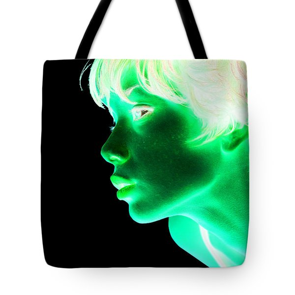 Inverted Realities - Green  Tote Bag