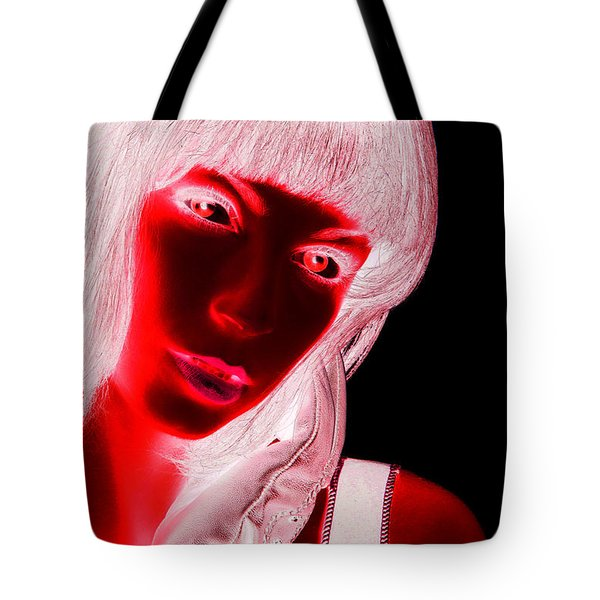 Inverted Realities - Red  Tote Bag