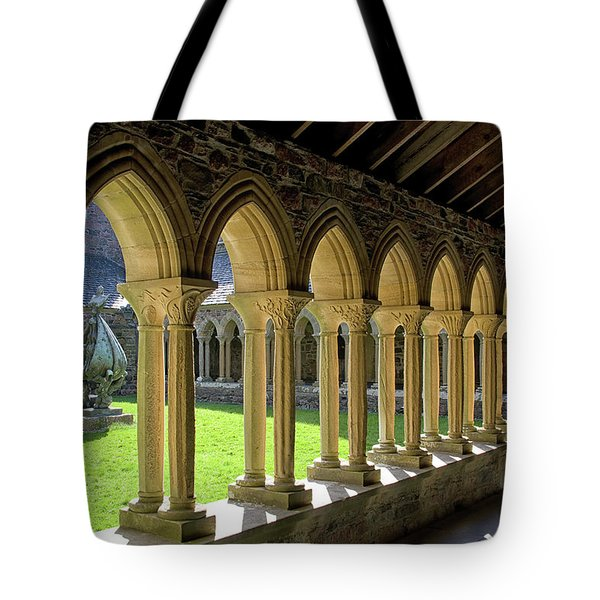 Iona Abbey Scotland Tote Bag by Jacqi Elmslie