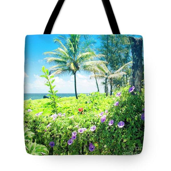 Ipomoea Keanae Morning Glory Maui Hawaii Tote Bag by Sharon Mau