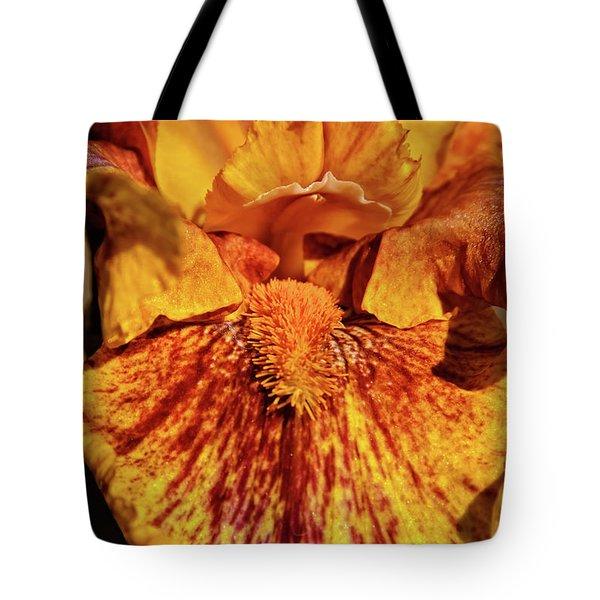 Iris Macro Tote Bag by Robert Bales
