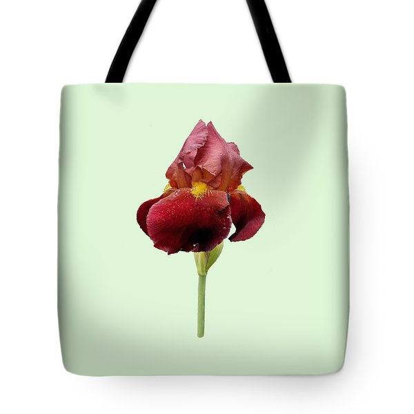 Iris Vitafire Green Background Tote Bag