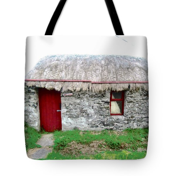 Irish Cottage Tote Bag by Stephanie Moore