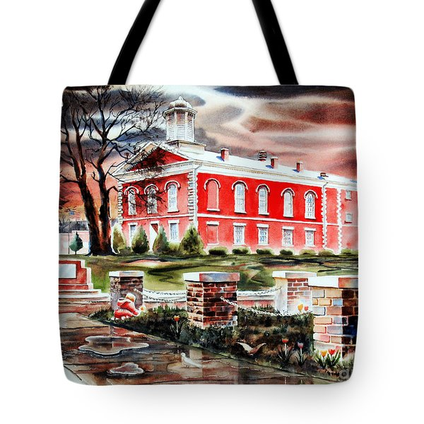 Iron County Courthouse II Tote Bag by Kip DeVore