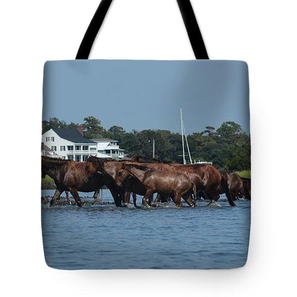 Island Ponies Tote Bag