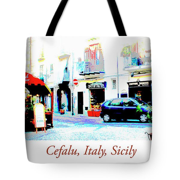 Italian City Street Scene Digital Art Tote Bag