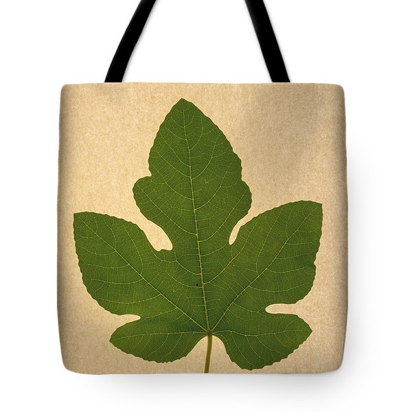 Tote Bag featuring the photograph Italian Honey Fig Leaf by Frank Wilson