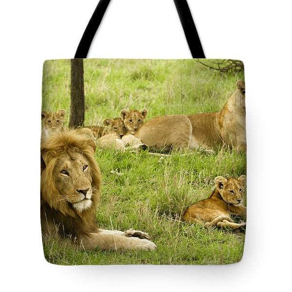 It's All About Family Tote Bag by Michele Burgess