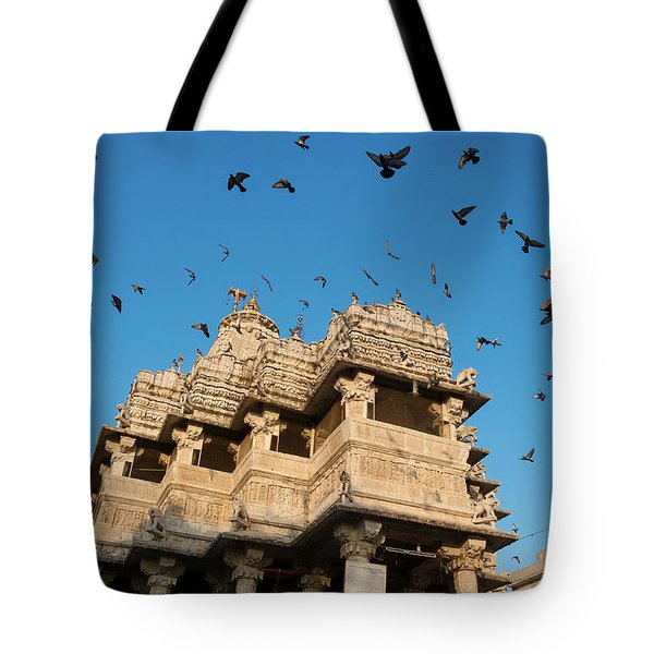 Tote Bag featuring the photograph Jagdish Temple by Yew Kwang