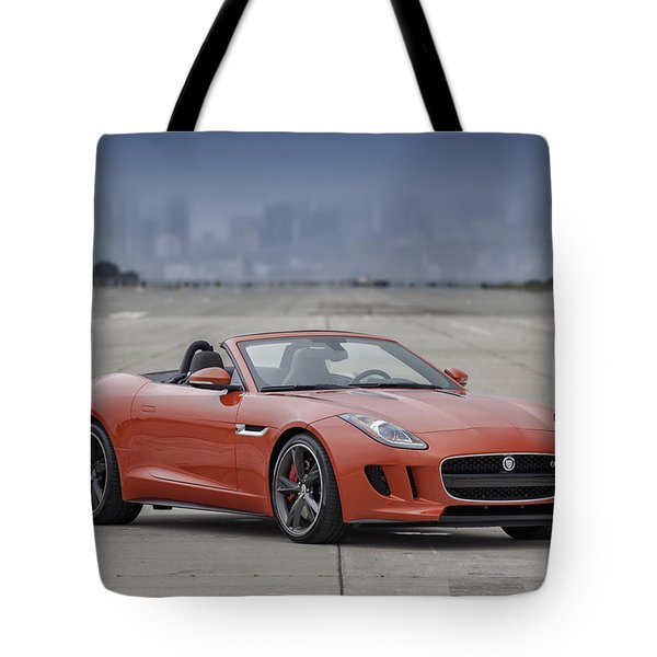 Jaguar F-type Convertible Tote Bag