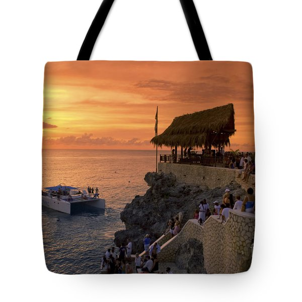Tote Bag featuring the photograph Jamaica Negril Ricks Cafe by Juergen Held