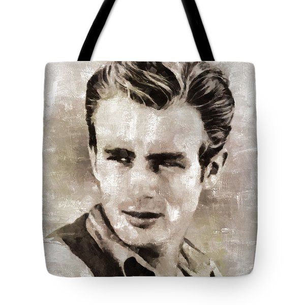 James Dean Hollywood Legend Tote Bag by Mary Bassett