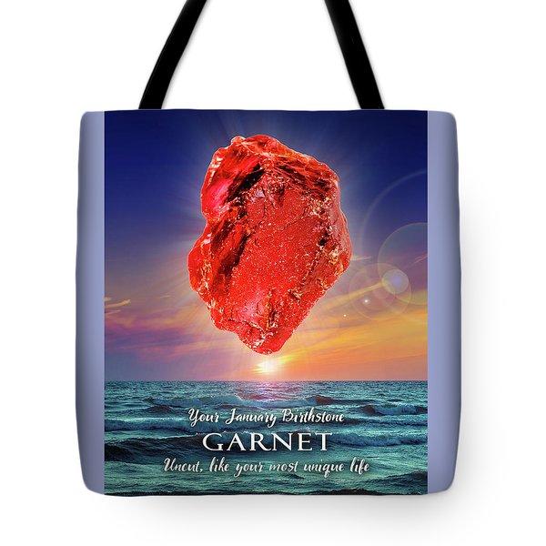 January Birthstone Garnet Tote Bag