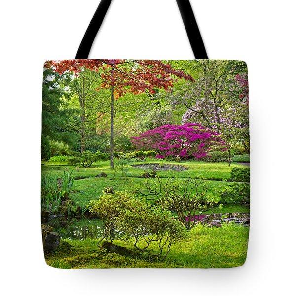 Japanese Garden Tote Bag by Anastasy Yarmolovich