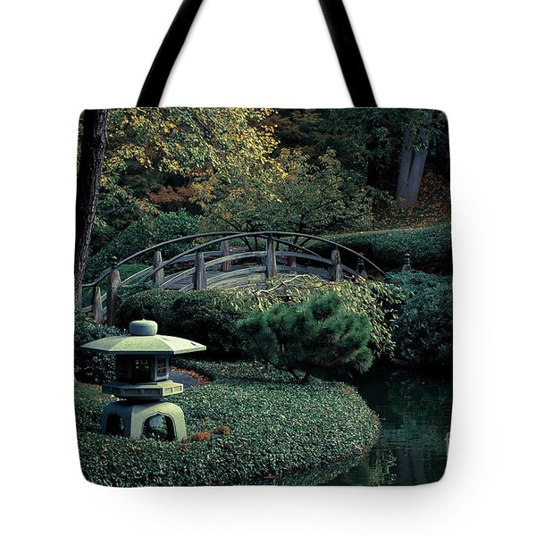 Tote Bag featuring the photograph Japanese Garden In Summer by Iris Greenwell