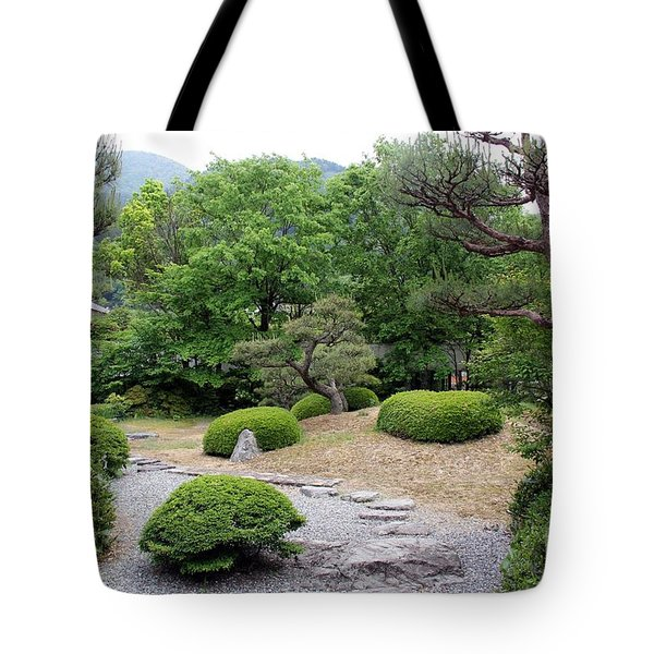 Tote Bag featuring the photograph Japanese Garden by Yumi Johnson