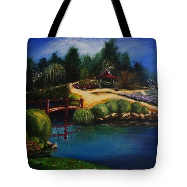 Japanese Gardens - Original Sold Tote Bag