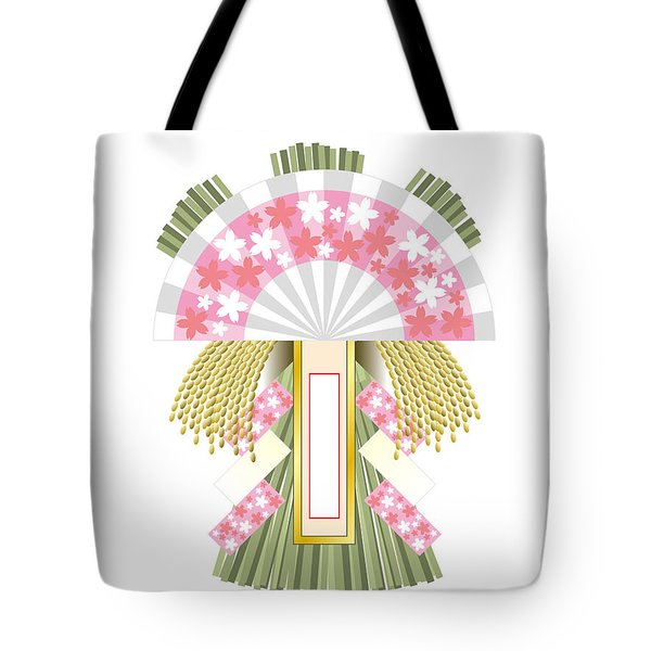 Japanese Newyear Decoration Tote Bag