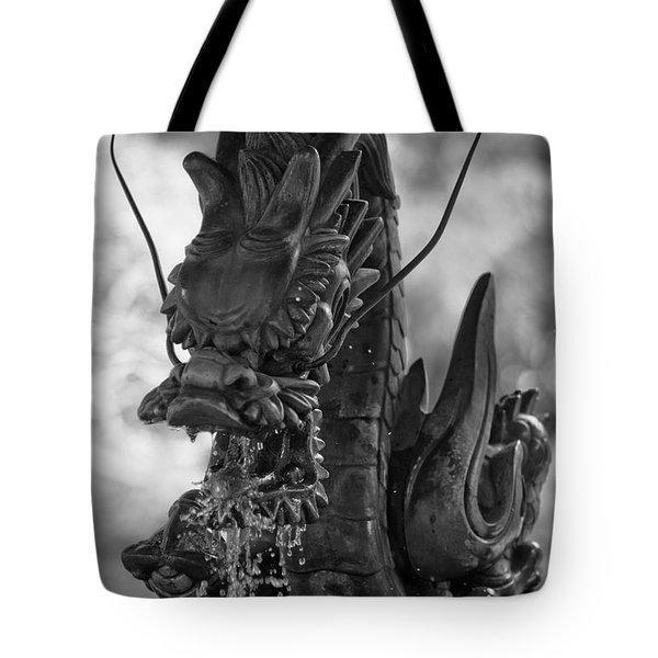Japanese Water Dragon Tote Bag by Sebastian Musial