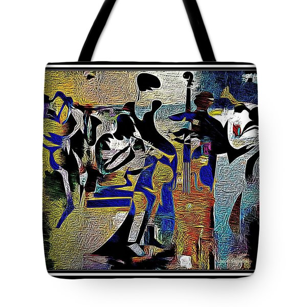 Jazzy Night  Tote Bag by Lynda Payton