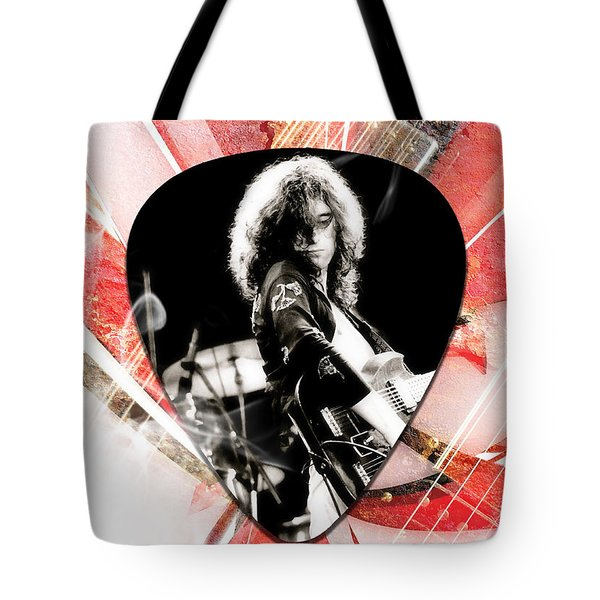 Jimmy Page Led Zeppelin Art Tote Bag