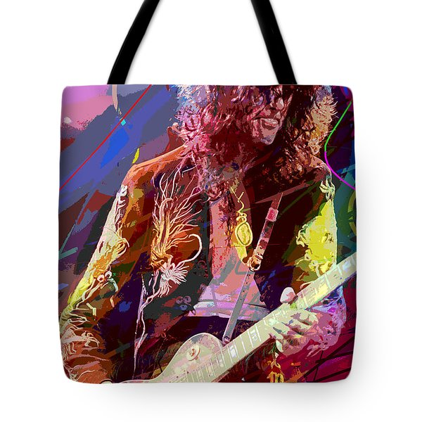 Jimmy Page Les Paul Gibson Tote Bag